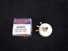 Vintage Nos Mallory M50Mpk Potentiometer 50K Ohm #4T