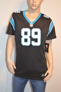 New STEVE SMITH #89 Carolina Panthers Nike On Field Jersey Black/Blue Original