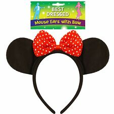 Minnie Mini Mouse Ears Headband Women Girls Mickey Party Hen Night Fancy Dress