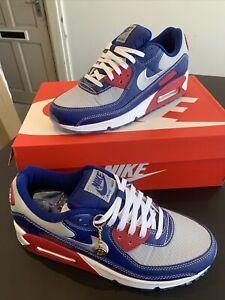 Nike Air Max 90 NRG Deep Royal Blue/Gym Red/ White/ Light Smoke Grey Size 7 BNIB
