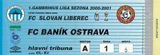 Ticket - Slovan Liberec v Banik Ostrava 2000/1