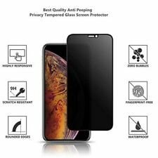 Full Coverage Anti-Spy Privacy Glass Screen Protector For iPhone X/Xs XR XsMax