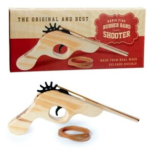 Rubber Band Gun Elastic Band Blaster Office Shooter Traditional Adult Kids Toy