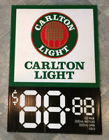 Carlton Light Beer Advertising Corflute Double Sided Display Sign