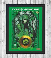 TYPE O NEGATIVE CUADRO CON GOLD O PLATINUM CD EDICION LIMITADA. FRAMED