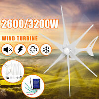 2600W/3200W DC12V/24V 3/6Blade Wind Turbines Generator Battery Charge Controller