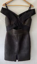 NICOLA FINETTI gorgeous neckline textured Dress Size 8