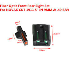Durable Fiber Optic Front Rear Sight Tactical Red Green Sight For Colt 1911