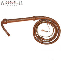Indiana Jones Cow Hide Leather 06 Feet Long 12 Plait Weaving Bull Whip Brown/tan