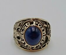 US Military Academy WEST POINT Rings 1973 size 12 , Sapphire Stones