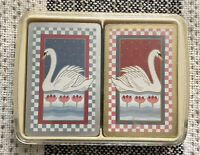 united states playing card company 2 Deck Set Vintage Swan Design
