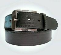 Echt Herren Damen Jeans Gürtel Eckig Belt Black 6 Größen Schwarz 4 cm Breit NEU