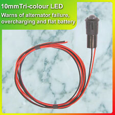 12V Tri-Colour LED Alternator Battery Warning Light, Charge voltage monitor