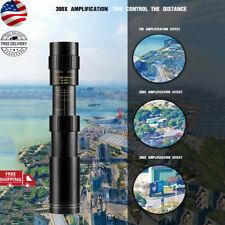 4k 10-300x40mm Super Monocular Telephoto Zoom Telescope W/Tripod & Phone Clip