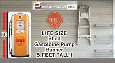 Shell Gasoline Pump LIFE SIZE Banner for GARAGE, WORKSHOP or Pit Lane, Vintage