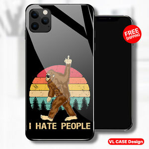 Bigfoot Middle Finger, I hate People Phone Case fits Samsung fits iPhone Gift
