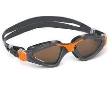 Aqua Sphere Kayenne Swimming Goggles - Polarised  Lens - Grey Orange (172730)