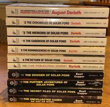 Solar Pons 1-11 by Basil Copper First Edition/Printings Lot of 11 Pinnacle Books