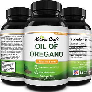 Pure Wild Oregano Oil Capsules - Oil of Oregano Capsules for Immune Support H...