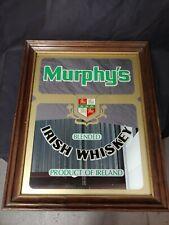 Murphy's Blended Irish Whiskey Mirror Bar/Pub Advertisement Sign Vintage