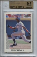 1990 Leaf #300 Frank Thomas RC BGS 9.5 Gem Mint w/ 10 Chicago White Sox Auburn