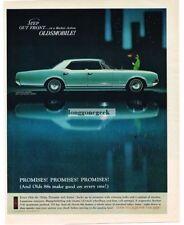 1966 Oldsmobile Delta 88 Holiday Sedan Car Automobile Vtg Print Ad