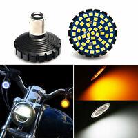 White Amber Switchback LED Turn Signal Light Bulb For Harley Davidson Softa Dyna