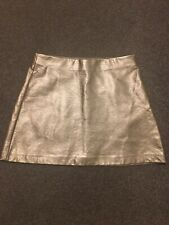 Zara Small Gold Faux Leather Skirt