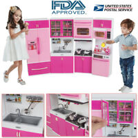Kitchen Playset For Girls Pretend Play Refrigerator Toy Cooking Set Toddler Kid
