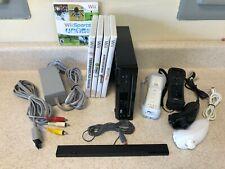 Nintendo Wii Console Bundle w/ 2 Controllers, 5 games (Smash Bros Brawl) + More