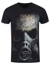 Herren-T-Shirts mit Rundhals und Skull Spiral