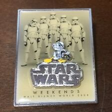 WDW Disney Star Wars Weekend 2008 Logo Pin Donald Duck as Storm Trooper LE
