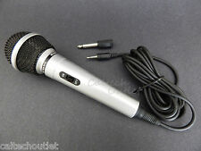 Dynamic MIC Microphone w/Extra Adapter Karaoke Systems & Computers 3.5mm & 6.3mm