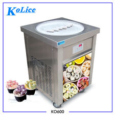 "Kolice Etl Ul Nsf 22"" (55cm) single round pan fried ice cream roll machine"