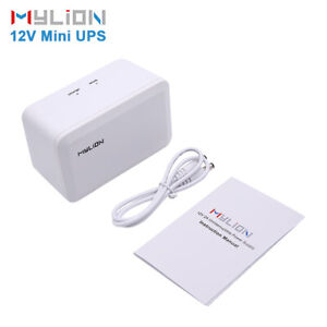 MYLION 12V 37WH Portable Uninterruptible Power Supply CCTV ROUTER CAMERA US SHIP