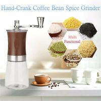 160ml Stainless Steel Coffee Manual Hand-Crank Spice Bean Nut Seeds Hand