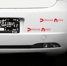 2 Aufkleber 20cm Auto Heck Tür Fenster Spiegel Tattoo Folie Depeche Mode Spirit