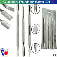 Professional Cuticle Pusher Dead Skin Double Ended Nails Art Scrapers Removal