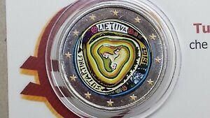 2 euro 2019 LITUANIA color farbe couleur cor Lituanie Lithuania Litauen Lietuva