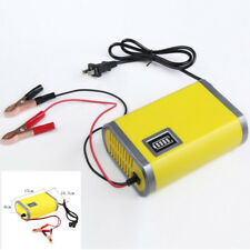 Car Motorcycle Battery Charger 12V 6A Adapter Power Supply Input 220V W/ US Plug