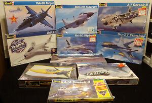 NEW Vintage Plastic Model Military Fighter Airplane Lot of 10 Revell & Monogram