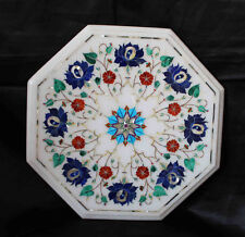 "12"" Marble Coffee Table Top Inlay Handmade Work Home Decor & gifts"