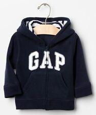 GAP Baby / Toddler Boy Size 12-18 Months Blue Arch Logo Fleece Hoodie Jacket