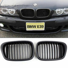 Black Front Wide Kidney Grille Grills For BMW E39 525 528 530 535 M5 2000-2003