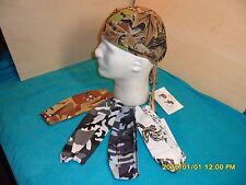 Skull Caps Wholsale sample 5  lot headwraps, do rags, doo rags head wraps Camos