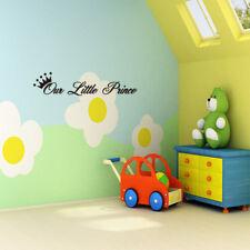 """Our Little Prince"" Crown Wall Sticker DIY Art Decal Baby Boy Nursery Bedroom"