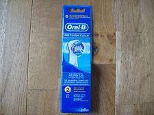 Genuine Braun Oral B Precision Clean Brush Head x 2 Pack