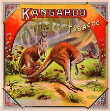 Petersburg, Virginia Kangaroo Australia Tobacco Crate Box Label Art Poster Print