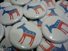 "Democratic Party Donkey Symbol BUTTON Badge 1-1/4"" w/Pinback Election Campaign"