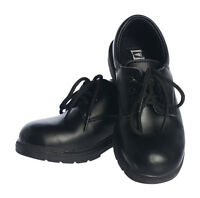 Boys Black Leather Dress Shoes Lace Up. Toddler size 5 – older boys size 6 to